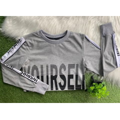 Blusa cropped teen mescla