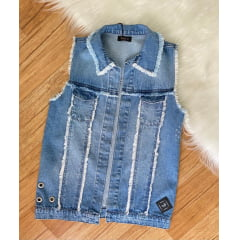 Colete maxi jeans teen