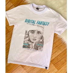 Tshirt oversized alongada infantil teen digital fantasy