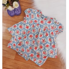 Romper baby casual floral 1+1